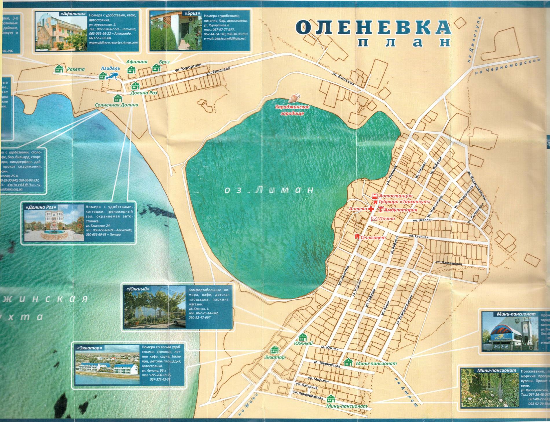 карта Оленевки