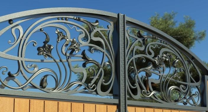 Кованые ворота и кованые калитки в Киеве