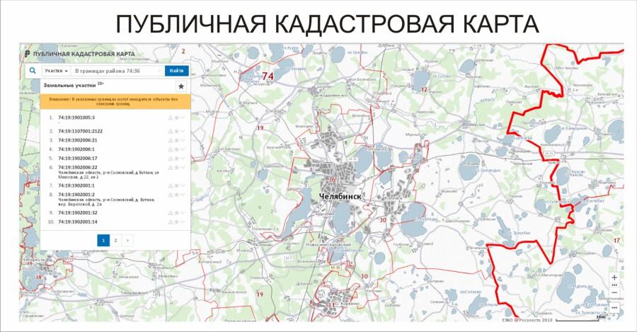 Какими функциями обладает публичная кадастровая карта?